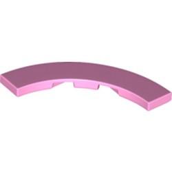 Bright Pink Tile, Round Corner 4 x 4 Macaroni Wide