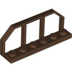 Brown Plate, Modified 1 x 6 with Train Wagon End - used