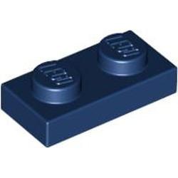 Dark Blue Plate 1 x 2 - used