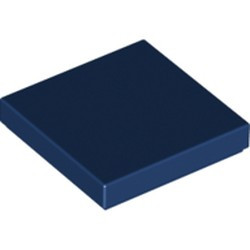 Dark Blue Tile 2 x 2 with Groove - used