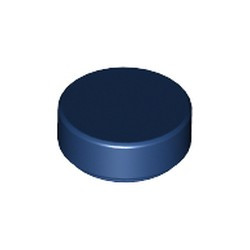 Dark Blue Tile, Round 1 x 1 - new