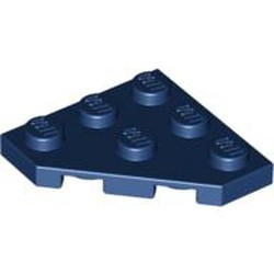 Dark Blue Wedge, Plate 3 x 3 Cut Corner - new