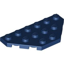 Dark Blue Wedge, Plate 3 x 6 Cut Corners - used