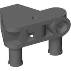 Dark Bluish Gray Bionicle Rhotuka Connector Block 1 x 3 x 2 with 2 Pins and Axle Hole - used