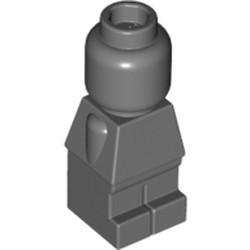 Dark Bluish Gray Body Microfigure Plain Complete - used