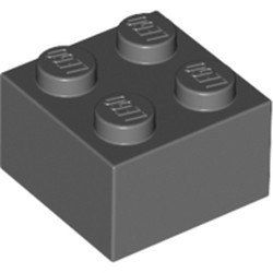 Dark Bluish Gray Brick 2 x 2