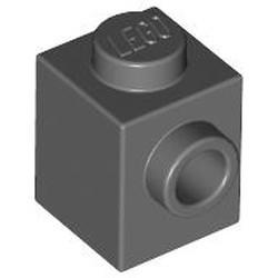 Dark Bluish Gray Brick, Modified 1 x 1 with Stud on 1 Side