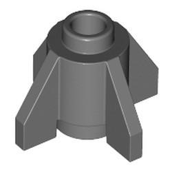 Dark Bluish Gray Brick, Round 1 x 1 with Fins