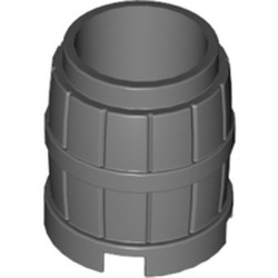 Dark Bluish Gray Container, Barrel 2 x 2 x 2 - new