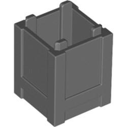 Dark Bluish Gray Container, Box 2 x 2 x 2 - Top Opening - used