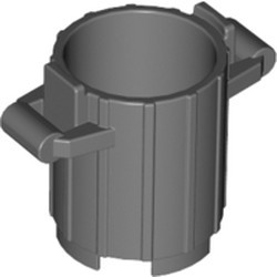 Dark Bluish Gray Container, Trash Can with 2 Cover Holders