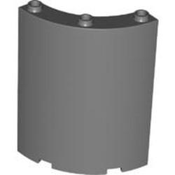 Dark Bluish Gray Cylinder Quarter 4 x 4 x 6