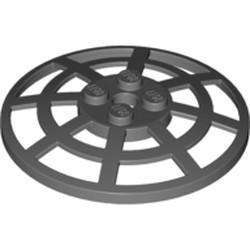 Dark Bluish Gray Dish 6 x 6 Inverted (Radar) Webbed - Type 2 (underside attachment positions at 90 degrees)