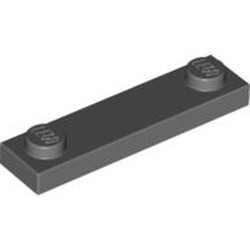 Dark Bluish Gray Plate, Modified 1 x 4 with 2 Studs without Groove - used