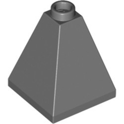 Dark Bluish Gray Slope 75 2 x 2 x 2 Quadruple Convex - Blocked Open Stud or Hollow Stud - new