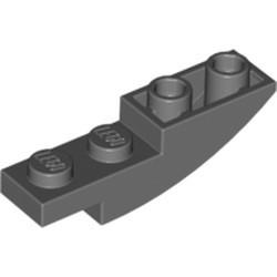 Dark Bluish Gray Slope, Curved 4 x 1 Inverted