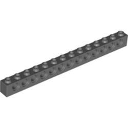 Dark Bluish Gray Technic, Brick 1 x 14 with Holes