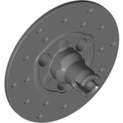 Dark Bluish Gray Technic, Steering Wheel Hub 3 Pin Holes Round - new
