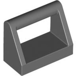 Dark Bluish Gray Tile, Modified 1 x 2 with Bar Handle - new
