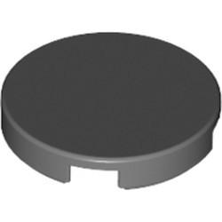 Dark Bluish Gray Tile, Round 2 x 2 with Bottom Stud Holder