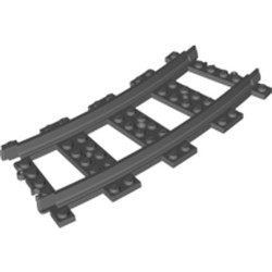 Dark Bluish Gray Train, Track Plastic (RC Trains) Curve - new