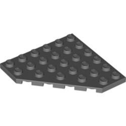 Dark Bluish Gray Wedge, Plate 6 x 6 Cut Corner