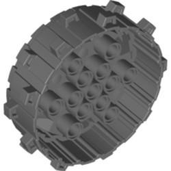 Dark Bluish Gray Wheel Hard Plastic with Small Cleats