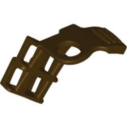 Dark Brown Minifigure Armor Shoulder Pad Single with Scabbard for 2 Katanas