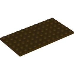 Dark Brown Plate 6 x 12 - new