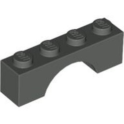 Dark Gray Brick, Arch 1 x 4 - new