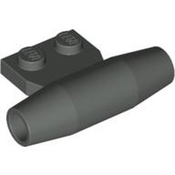 Dark Gray Engine, Smooth Small, 1 x 2 Side Plate with Axle Holders