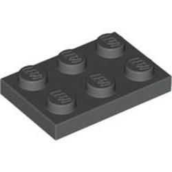 Dark Gray Plate 2 x 3 - used