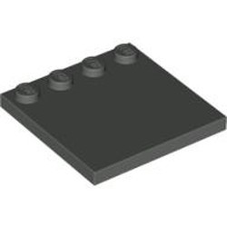Dark Gray Tile, Modified 4 x 4 with Studs on Edge - used