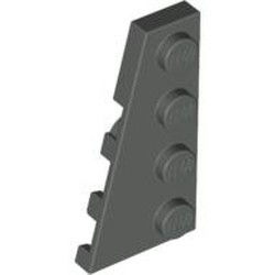Dark Gray Wedge, Plate 4 x 2 Left - used
