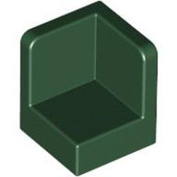 Dark Green Panel 1 x 1 x 1 Corner - used