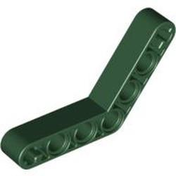 Dark Green Technic, Liftarm 1 x 7 Bent (4 - 4) Thick - used