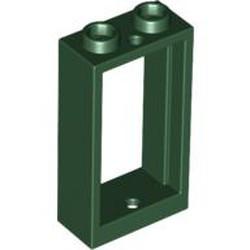 Dark Green Window 1 x 2 x 3 Flat Front - used