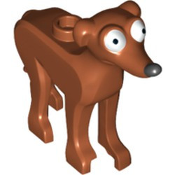 Dark Orange Dog, The Simpsons with Black Nose and White Eyes Pattern (Santa's Little Helper) - used