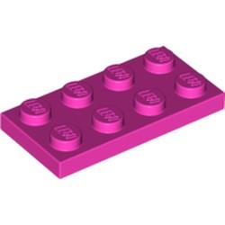 Dark Pink Plate 2 x 4