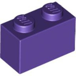 Dark Purple Brick 1 x 2 - new