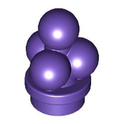 Dark Purple Ice Cream Scoops