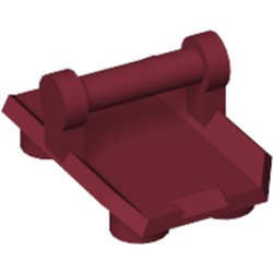 Dark Red Plate, Modified 2 x 3 Inverted with 4 Studs and Bar Handle on Bottom - Closed Ends (Rocker Plate) - new