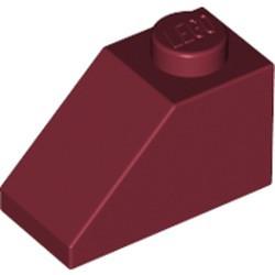 Dark Red Slope 45 2 x 1 - used