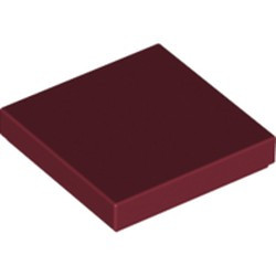 Dark Red Tile 2 x 2 with Groove