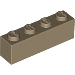 Dark Tan Brick 1 x 4 - new