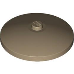 Dark Tan Dish 4 x 4 Inverted (Radar) with Solid Stud - used