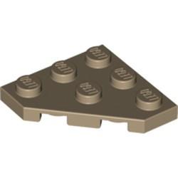 Dark Tan Wedge, Plate 3 x 3 Cut Corner