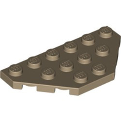 Dark Tan Wedge, Plate 3 x 6 Cut Corners - new