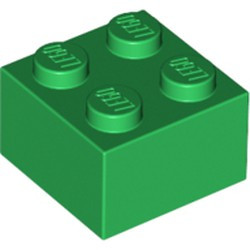 Green Brick 2 x 2 - used