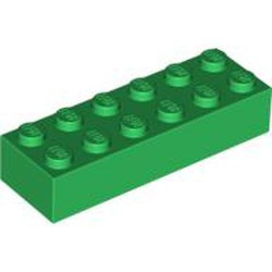 Green Brick 2 x 6 - used